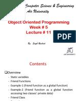 Lecture # 11(Friend Class)