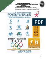 Bases de Los Juegos Magisteriales 2019