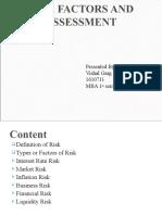 Risk Factors and Assessment