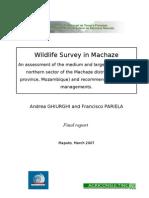 Final Report Machaze Wildlife