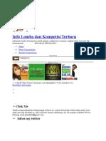 Info Lomba Dan Kompetisi Terbaru