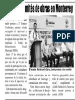 18-07-19 Nombran comités de obras en Monterrey