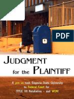 Angelica Hale vs Emporia State University Trial Order Verdict  (Title VII Retaliation) July 16, 2019  7-16-19