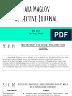 sara maglov  reflective journal