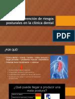 Prevención de Riesgos Posturales en La Clínica Dental