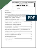 Manual de procedimiento del Laboratorio Clínico