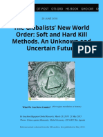 Globalists New World Order Soft and Hard Kill Methods an Unknown and Uncertain Future