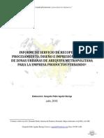 Informe de Servicio de Diseño de Planos Zonificados  de Urbe Arequipa.