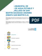 Empresa Municipal de Servicio de Agua Potable y Alcantarillado de San Martin Sociedad Anonima