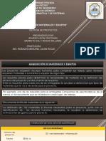 Adquisición de Materiales y Equipos pmbok