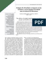 Estigma de obesidad, impacto en victimas y equipos de salud