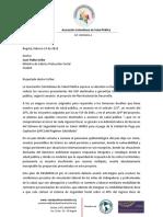 Pronunciamiento Asociación Colombiana de Salud Publica sobre el PND Duque