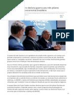 2019_JUL. Bolsonaro - Guerra Aos Três Pilares Fascistas Da Economia Brasileira