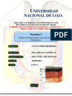 Análisis granulométrico método del Hidrómetro