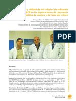 criterios de indicación clínica ACR en las exploraciones de resonancia magnética