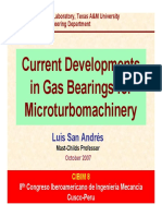 Gas bearing microturbomachinery