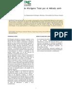 Determinación de Nitrógeno Total por el Método Kjeldahl