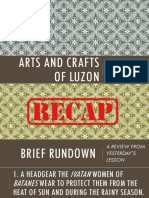 1st Quarter Lesson 3. Folk Arts from Southern Luzon and Bicol Region