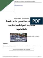 Analizar la prostitución