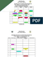 Horario de Evaluaciones Diagnosticas 2019