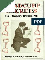 4254987541 Handcuff Secrets by Harry Houdini