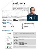 Mohammad Juma -  Solutions Architect & Senior Business Analyst - July 2019