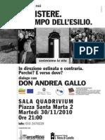 """30.11.10 Genova. """"In direzione ostinata e contraria"""""""