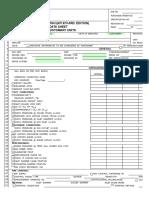 API 673 3rd Ed Data Sheets