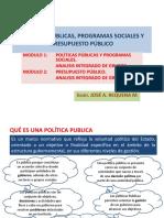 Politicas Publicas Programas Sociales y Presupuesto Público