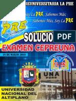 Examen Cepreuna 18 de Marzo - Area de Biomedicas