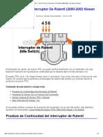 Parte 1 -Cómo Probar El Interruptor de Ralentí (2000-2002 1.8L Nissan Sentra)