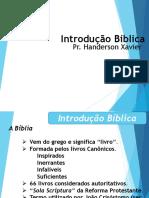 Introducaobiblia de Handerson Xavier