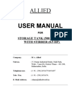 Storage Tank With Stirrer Manual