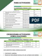 CRONOGRAMA ACTIVIDADES 2019A