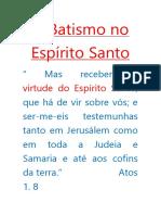 A doutrina do espírito santo