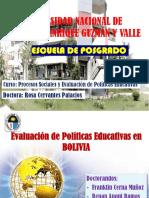 Evaluación de Políticas Educativas en BOLIVIA
