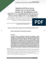 DIMENSIÓN ESTÉTICA EN LA ENSEÑANZA DE LA FILOSOFÍA