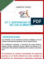 Ut 7. Sustancias Tóxicas de Los Alimentos
