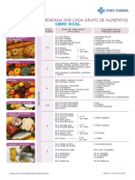 dieta 1800 kcal verano