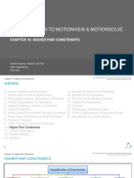 10 Higher Pair Constraints Introduction Intro to MotionView MotionSolve v2017.2 Rev20170726