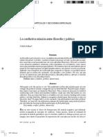 La conflictiva relación entre filosofía y política