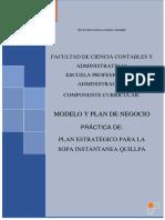 Plan Estratégico Para La Sopa Instantanea Quillpa