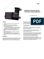 2500 Series Seismic Sensor for Elevator Control Applications