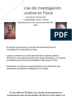 Tendencias de Investigación Educativa en Física. Jhon Winter