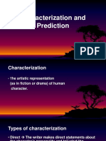 Characterization and Prediction