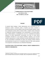 Direito administrativo e pós-positivismo