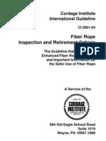 Fiber Rope Inspection Adn Retirement Criteria