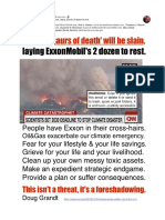 750 'dinosaurs of death' will be slain, laying Exxon's 2 dozen to rest