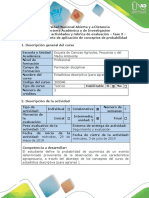 Guía de Actividades y Rúbrica de Evaluación - Fase 3. Elaborar Documento de Aplicación de Conceptos de Probabilidad