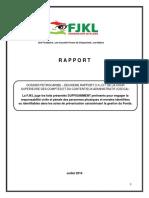 FJKL - PetroCaribe - Analyse Du Deuxieme Rapport de La Cscca Juillet 2019